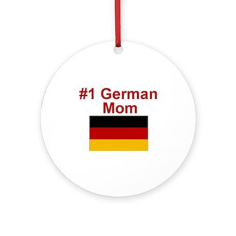 #1 German Mom Ornament (Round)