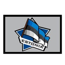 """Estonia Star Flag"" Postcards (Package of 8)"