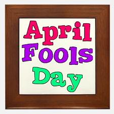 april fools day bo Framed Tile