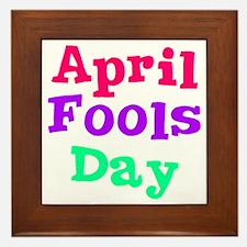 april fools day wo Framed Tile