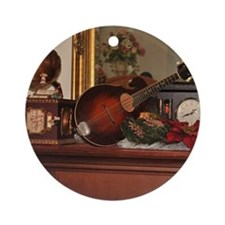TILE_Christmas_Mandolins1 Round Ornament