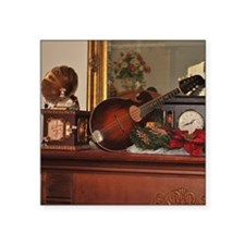 "TILE_Christmas_Mandolins1 Square Sticker 3"" x 3"""