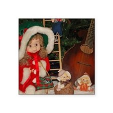 "TILE_Christmas_Mandolins4 Square Sticker 3"" x 3"""