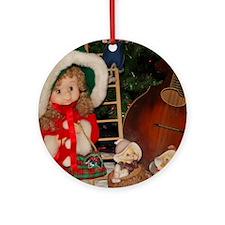 TILE_Christmas_Mandolins4 Round Ornament