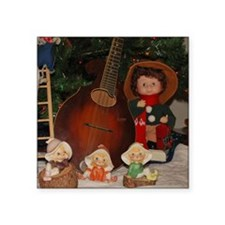 "TILE_Christmas_Mandolins4-1 Square Sticker 3"" x 3"""