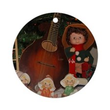 TILE_Christmas_Mandolins4-1 Round Ornament