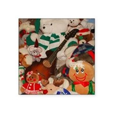 "TILE_Christmas_Mandolins5 Square Sticker 3"" x 3"""