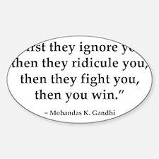 gandhi quote Decal