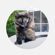callie the cat Ornament (Round)