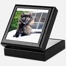 callie the cat Keepsake Box