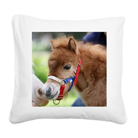 Orphaned Foal - Joy Square Canvas Pillow