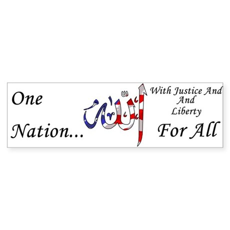 One Nation Name Of Allah Bumper Sticker