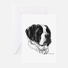 Smooth St Bernard Greeting Cards (Pk of 10)