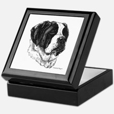 Smooth St Bernard Keepsake Box