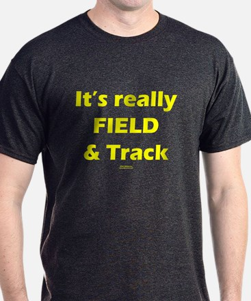 It's Really FIELD & Track Blk T-Shirt