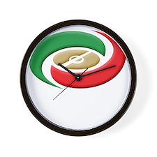 serie a(blk) Wall Clock