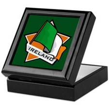 """Ireland Star Flag"" Keepsake Box"