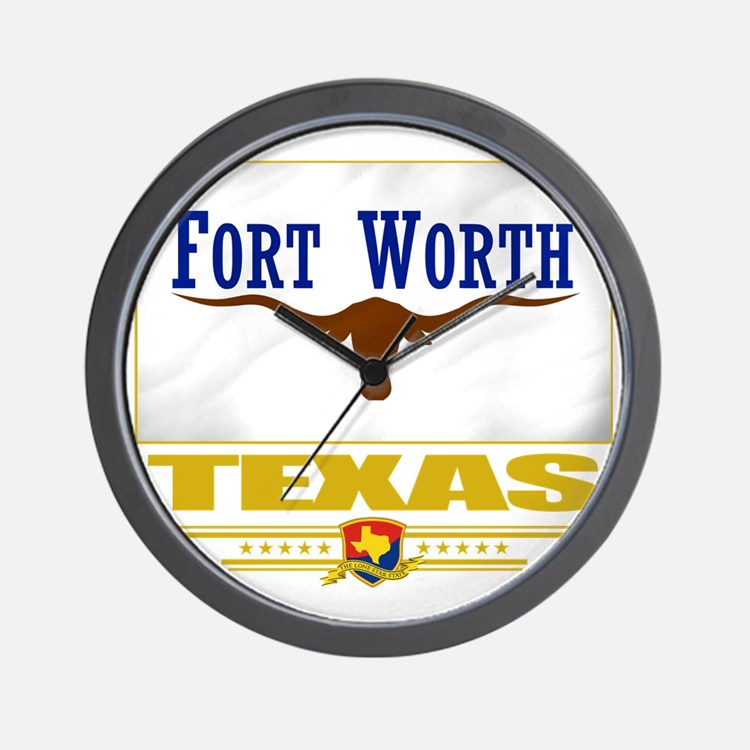 Fort Worth (Flag 10) Wall Clock