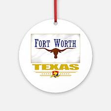 Fort Worth (Flag 10) Round Ornament