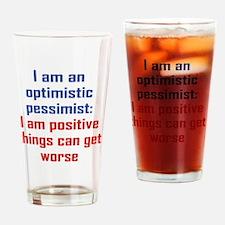 optimistic-pessimist_rnd1 Drinking Glass