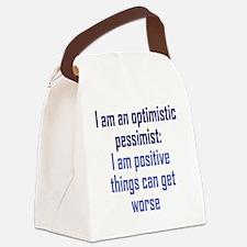optimistic-pessimist2 Canvas Lunch Bag