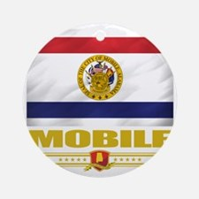 Mobile (Flag 10) Round Ornament