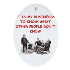 sherlock holmes quote Ornament (Oval)