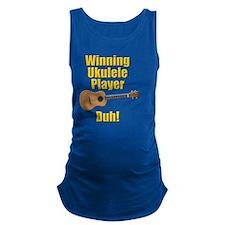 funny winning ukulele player Maternity Tank Top