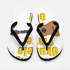 funny winning ukulele player Flip Flops