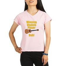 funny winning ukulele play Performance Dry T-Shirt