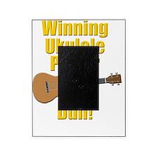 funny winning ukulele player Picture Frame