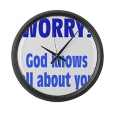 worry1 Large Wall Clock