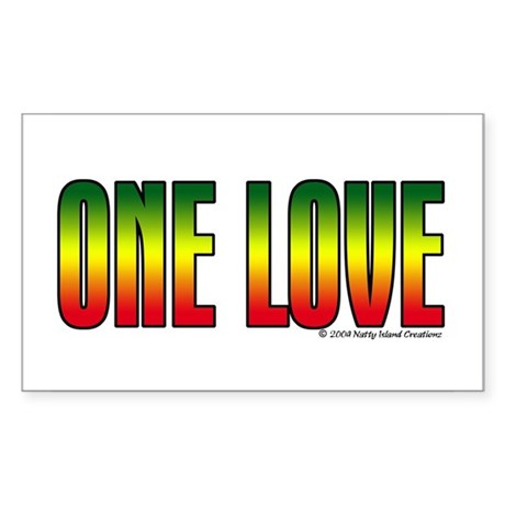 One Love Rectangle Sticker