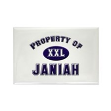 Property of janiah Rectangle Magnet