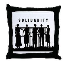 solidarity_BW Throw Pillow