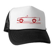 67 Alpine V_red Trucker Hat