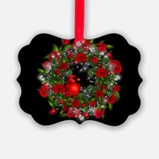 SPARKLING CARDINAL WREATH Ornament