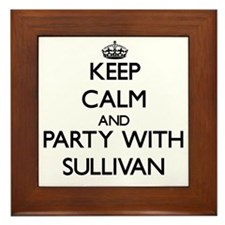 Keep Calm and Party with Sullivan Framed Tile