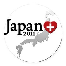 japan_01 Round Car Magnet