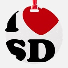I Love SD Large Ornament