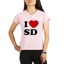 I Love SD Large Performance Dry T-Shirt