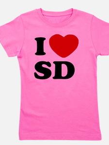 I Love SD Large Girl's Tee