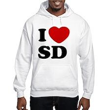 I Love SD Large Hoodie