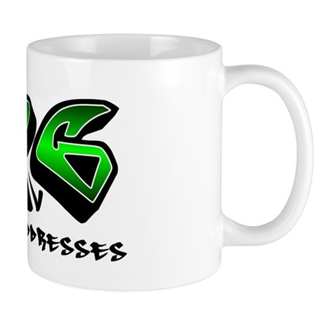 mad_addresses_black_green Mug