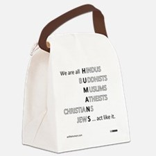 actlikehumanst Canvas Lunch Bag
