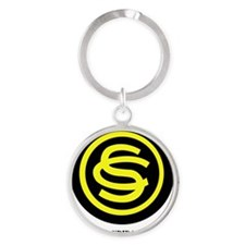 OFFICER CANDIDATE SCHOOL WITH TEXT Round Keychain
