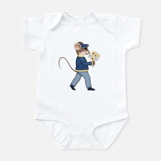 Daisy Bouquet Boy Mouse Infant Creeper