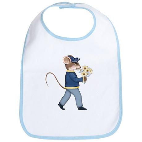 Daisy Bouquet Boy Mouse Bib
