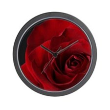 2011vDayRose_7_16x20 Wall Clock