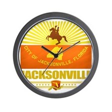 Jacksonville (Flag 10) Wall Clock